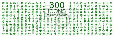 Tapeta Zestaw 300 ikon ekologii - wektor czas