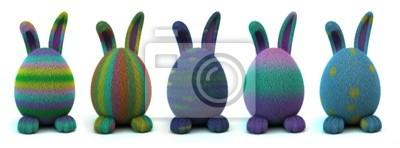 Zestaw kolorystyką Bunnies Easter Egg na białym