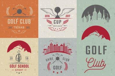 Tapeta Zestaw logo Golf, etykiety i symbole