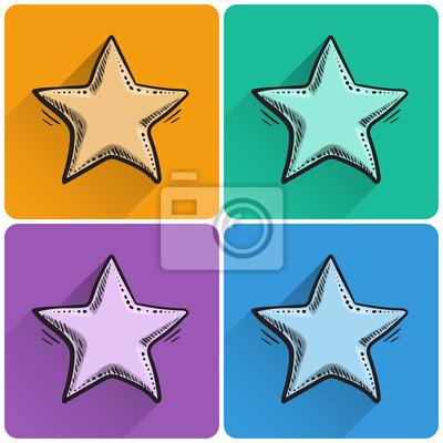 Zestaw przygotowanego ikoną gwiazdki