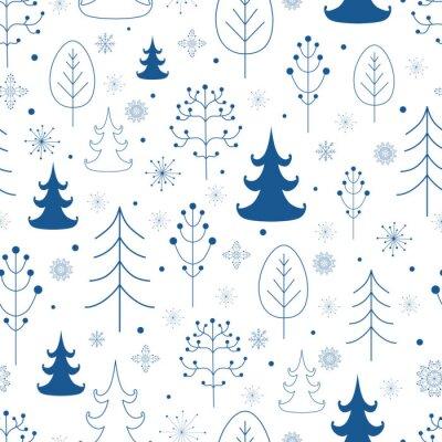 Tapeta Zimowy las w tle
