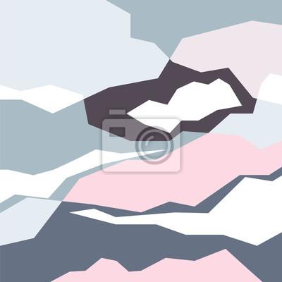 Tapeta Zimowy nastrój krajobrazu, wektor tła, abstrakcyjny wzór