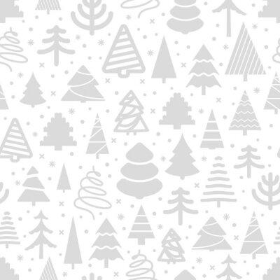 Tapeta Zimowy wzór lasu. Bożenarodzeniowy kartka z pozdrowieniami
