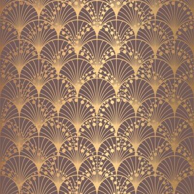 Tapeta Złote tło nieregularnych wzorów w stylu art deco