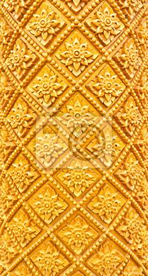 Tapeta Złoty filar wzór Thai