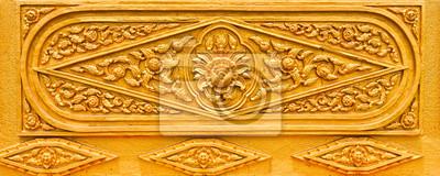 Tapeta Złoty Thai wzór