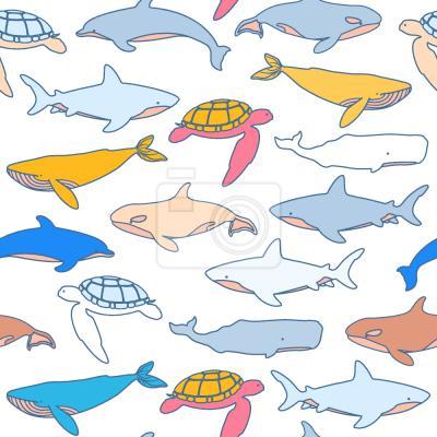 Tapeta Znalezienie Zwierząt Morskich