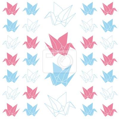 Tapeta Żurawie Origami